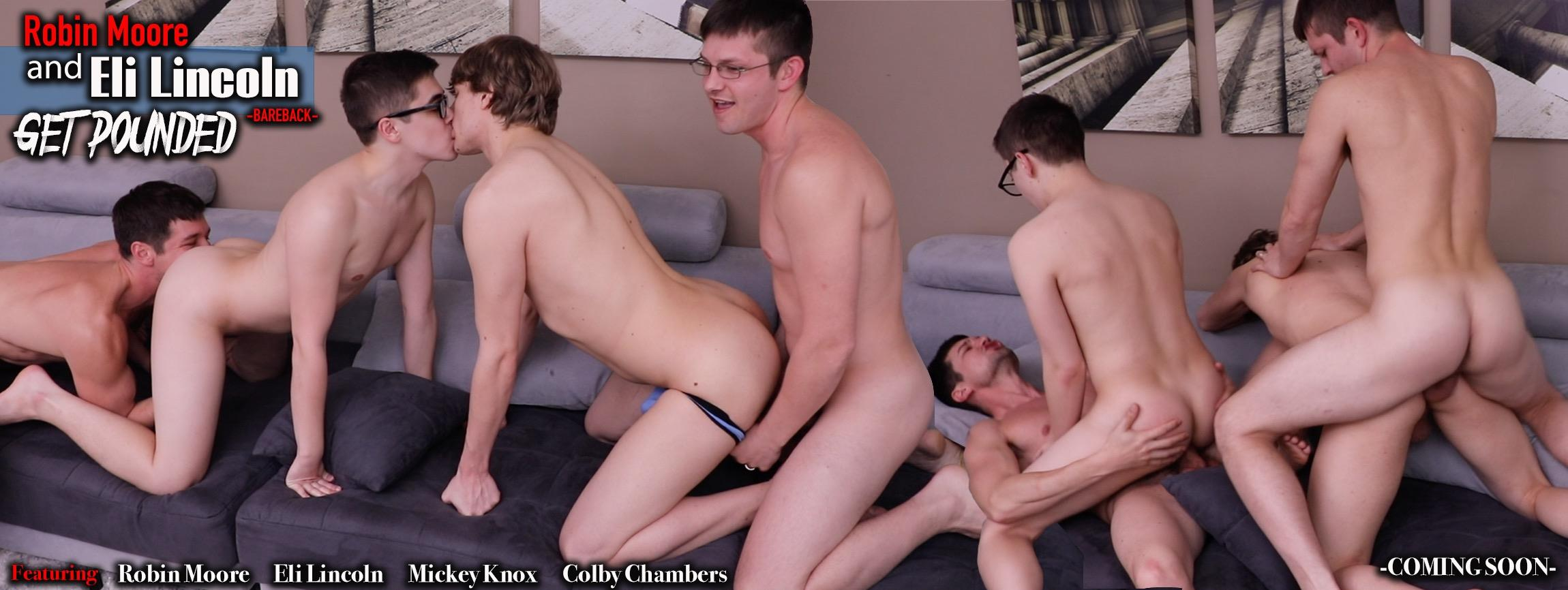 Robin Moore and Eli Lincoln get Pounded Bareback